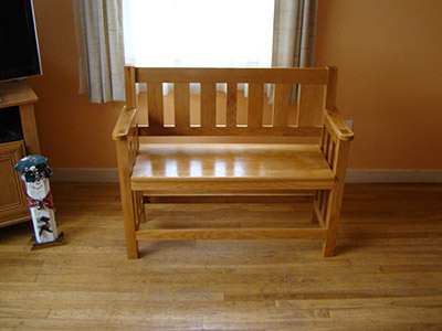 Oak Entry Bench